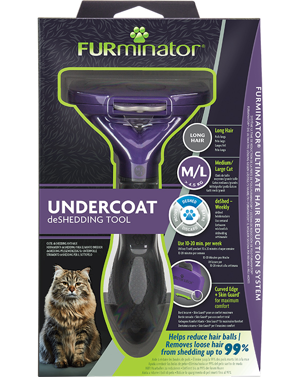 DeShedding Tool for Long Haired Medium or Large Cats