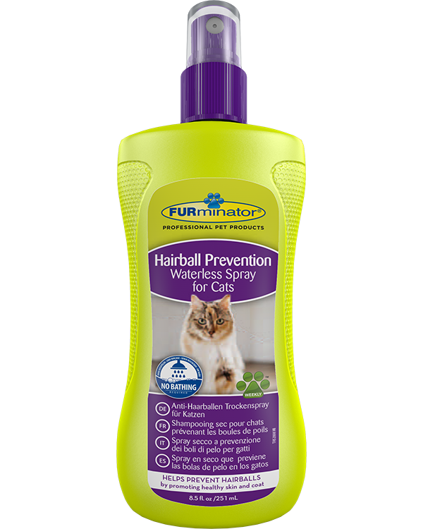 Shampooing sec préventif Hairball Prevention Waterless Spray contre les boules de poils